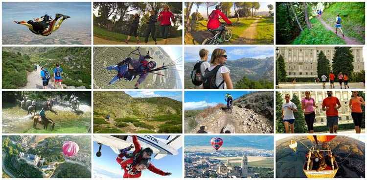 adventure travel collage